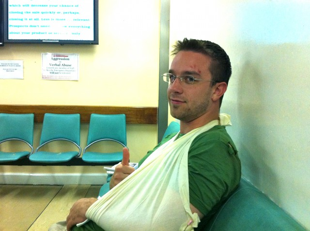 Fractured Elbow in Ireland? Sweet.